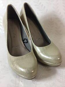 Tamaris Gold High-heeled Court Shoes EU35 UK 2