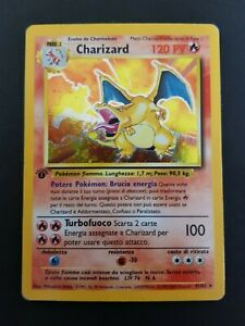 Charizard 4/102 Set Base WOTC 1st Edition HOLO ITA Rare Pokemon Card