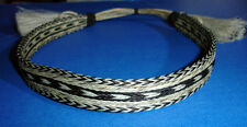 "Western Decor Cowboy HAT BAND Woven 7 Strand Horsehair W/2 Tassel 7/8"" Wide"