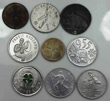 Lot of 9 Tokens Good Luck [3436
