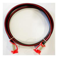 8 B&S Extension Lead x 0.5m 50 amp Anderson Plugs & Caps 12/24 volt Dual Battery