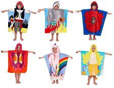 Kids Novelty Hooded Poncho Boys Girls Cotton Animal Swimming Bath Beach Towel