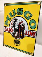 Musgo Gas Oil Gasoline garage Sign