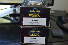 2 Weaver PS-1 40' Boxcar Electro-Motive EMDX #60 2-Rail O scale
