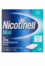 Nicotinell Stop Smoking Aid Nicotine Gum, 2 mg, Mint, 204 Pieces Mint Flavour