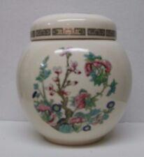 Vintage Sadler England  Ginger Jar Tea Caddy Indian -Tree