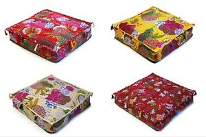 Indian All Of Sizes Floral Kantha Floor Dog Pet Beds Cushion Cover Home Décor US