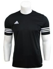 Mens Adidas Climalite Crew Training Gym Football T-Shirt Top Size S M L XL 2XL
