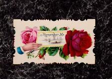 Hand Roses Remember Me Victorian Hidden Name Calling Card Olson