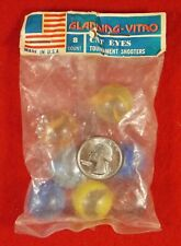 Sealed Bag of 8 Vintage Shooter Swirl Marbles Vitro Agate Co. 1970's