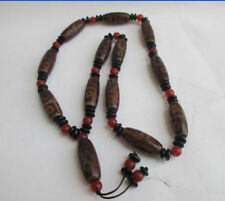 Tibetan prayer worry dzi bead agate/Unique 3 eyes necklace dzi tibet