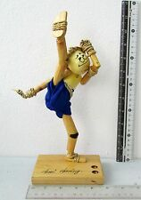 FUNNY Wooden Muay Thai Boxing Figures Pen & Pencil Holder 100% HANDMADE 9 Inch