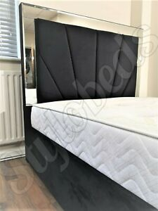 Bella Designer Mirror  Bed, Frame with Extra Storage + High Quality UK Made