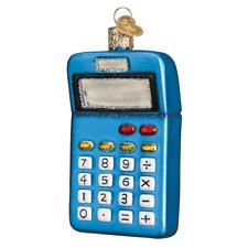 """Calculator"" (32325)X Old World Christmas Glass Ornament w/OWC Box"