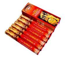 Darshan Sandal Räucherstäbchen - Packung mit 6 x 20 = 120 Sticks
