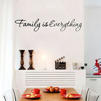 Fashion Family Quote wall vinyl decals stickers DIY Art Decor Decal Removable