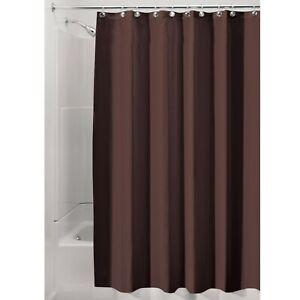 "Shower Curtain Fabric mDesign Water Repellent, Mildew Resistant, 72""x 84"" Brown"