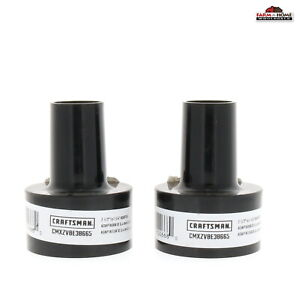 """(2) Craftsman 2 1/2"""" to 1-1/4""""  Adapter for Wet/Dry Vacuum Hose ~ NEW"""