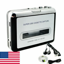 Portable Usb Cassette Tape-To-Mp3 Converter Capture Audio Music Player+Software