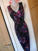 **STUNNING** PHASE EIGHT SIZE 12 NAVY PINK FLORAL WIGGLE DRESS *FAST POSTAGE**