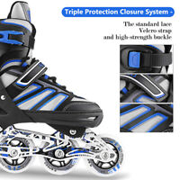 Inline Skate Rollerblade Roller Blades Boots for Boys &Girls PU Wheel, Size S~L