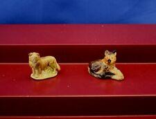 "Set Of 2 Wade Whimsies ""Alsatian (German Shepherd)� & ""Collie� Porcelain Figures"