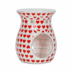 Glass Red Heart Wax Melt Burner 14cm Height