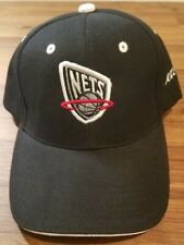 New Jersey Nets Black Hat Cap Adjustable Strap