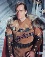 CHARLTON HESTON SIGNED AUTOGRAPHED 8x10 PHOTO EL CID SCREEN LEGEND BECKETT BAS