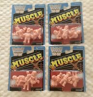 WWE M.U.S.C.L.E. Men Set Of 4 Super7 Mattel Figures Wrestling Legend SDCC MUSCLE