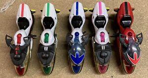 5 Power Rangers Time Force Action Figure Bikes/ Motorbikes - Bandai - 2000