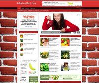 ALKALINE DIET ADVICE WEBSITE STORE - PROFESSIONAL DESIGN - VIDEO PAGES - DOMAIN