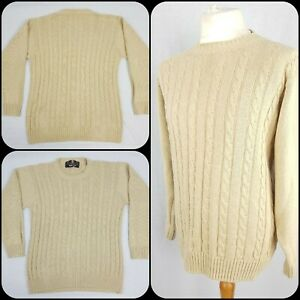 """Barbour Chunky Cable Knit Jumper L/44"""" Chest Scottish Winter Warm Fisherman"""