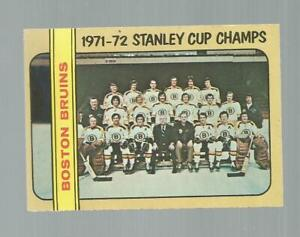 1972-73 BOSTON BRUINS O-PEE-CHEE HOCKEY CARD #276 STANLEY CUP CHAMPS