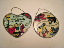 Lot of 2 Suncatchers by Joan Baker Designs *NEW* Handpainted Glass