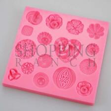 Pretty Fancy Vintage Jewel Brooches Silicone Mould Cake Topper Mold Chocolate