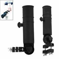 Black Adjustable Golf Umbrella Brolly Holder Cart Accessory for Trolley New