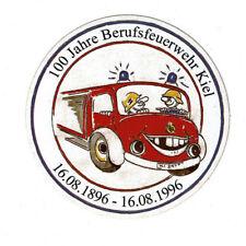 Aufkleber - 100 Jahre Berufsfeuerwehr Kiel 1896-1996 Schleswig-Holstein Reklame