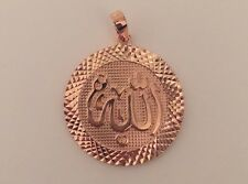 Scripture Allah Jewelry Pendant Necklace 9k Rose Gold Filled Islamic Arabic