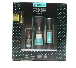 AXE Apollo 4pc Bonus Pack Shampoo Body Wash Deodorant New