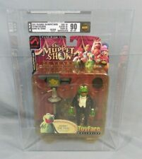 MUPPETS KERMIT THE FROG W/TOP HAT ACTION FIGURE 2002 TOYFARE AFA 90 PALISADES