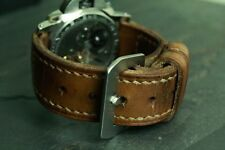 26mm leather strap  (ammo pouch med brown) No tapering - ZTRITIUM for Panerai