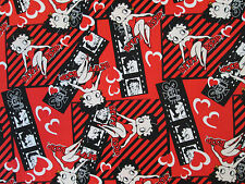 BETTY BOOP FILM STRIP RED BLACK COTTON FABRIC FQ