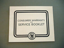 1977 Vintage Arctic Cat Snowmobile Warranty And Service Booklet