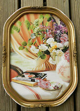 FABULOUS GOLD ANTIQUE/VINTAGE PHOTO FRAME WITH A LOVELY PICTURE!!
