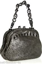 THOMAS WYLDE MENACE SPECIAL SKULL STUDDED ANTHRACITE LEATHER BAG RARE