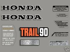 1975 Honda CT90 K6 Trail - 10 pc. decal set
