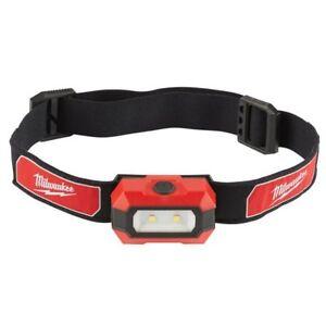 Milwaukee HL-LED Leuchte Kopflampe Stirnlampe für AAA Batterien IP 52 Helmlampe