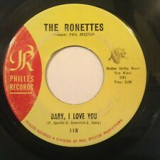 THE RONETTES -- BABY, I LOVE YOU / MISS JOAN AND MR SAM -- PHILLES 118 -- VG+