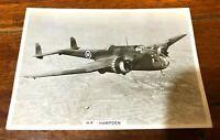 Ardath Tobacco REAL PHOTOGRAPHS OF MODERN AIRCRAFT XLarge 1939 H.P. HAMPDEN #12